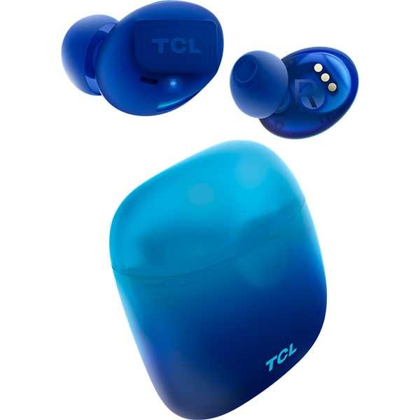 Casti TCL SOCL500TWSBL-RU, True Wireless, Bluetooth, In-ear, Microfon, Ocean Blue