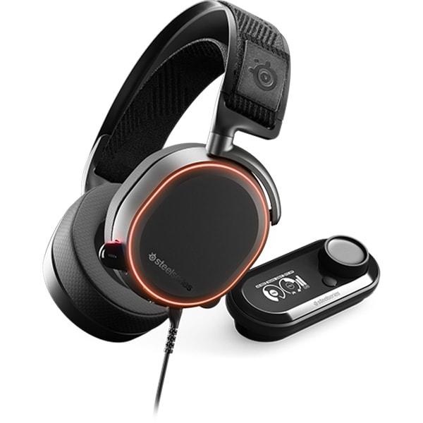 Casti Gaming STEELSERIES Arctis PRO + GameDAC, surround, multiplatforma, USB, 3.5mm, negru