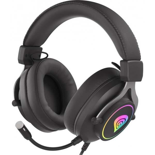 Casti Gaming GENESIS Neon 750 RGB, multiplatforma, 3.5mm, negru