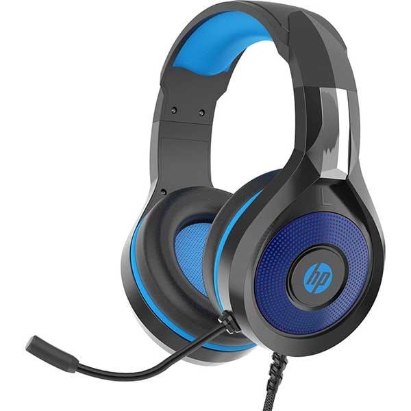 Casti Gaming HP DHE8010, Jack 3.5mm, negru-albastru