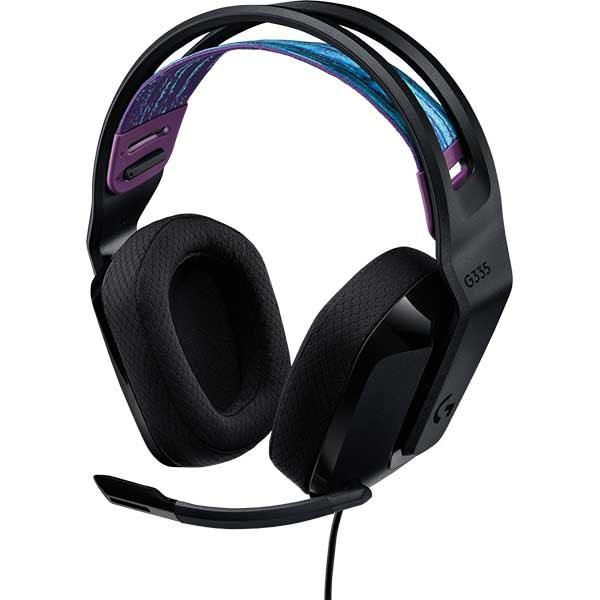 Casti Gaming LOGITECH G335, multiplatforma, 3.5mm, negru