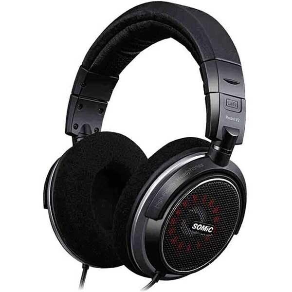 Casti Gaming SOMIC V2, stereo, multiplatforma, 3.5mm, negru
