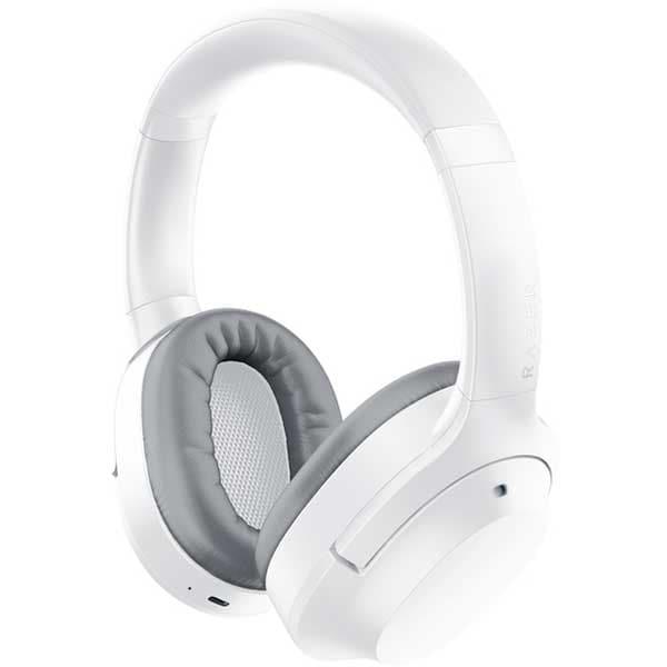 Casti Gaming Wireless RAZER Opus X Mercury Edition, Noise Cancelling, alb