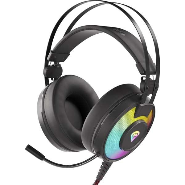 Casti Gaming GENESIS Neon 600 RGB, Stereo, USB, 3.5mm, negru