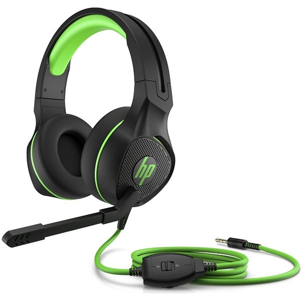 Casti Gaming HP Pavilion 400, stereo, 3.5mm, negru-verde