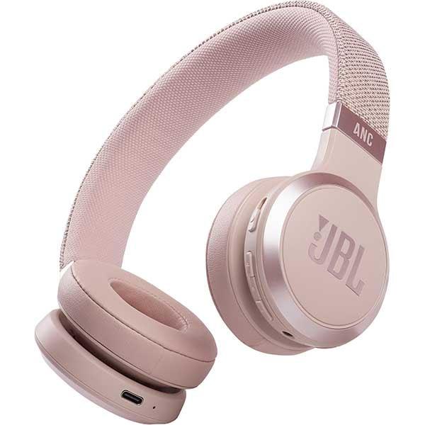 Casti JBL Live 460NC, Bluetooth, On-ear, Microfon, Noise Cancelling, roz
