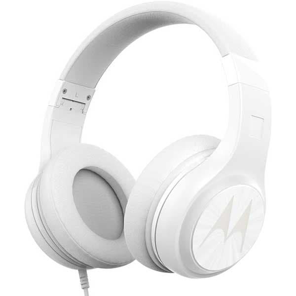 Casti MOTOROLA Pulse 120, Cu Fir, Over-Ear, Microfon, alb