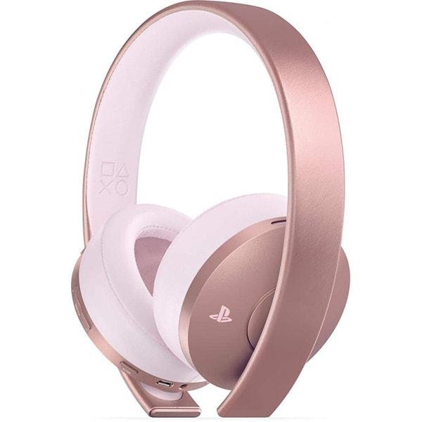 Casti Gaming Wireless SONY Gold, 7.1 surround, multiplatforma, USB, 3.5mm, rose gold