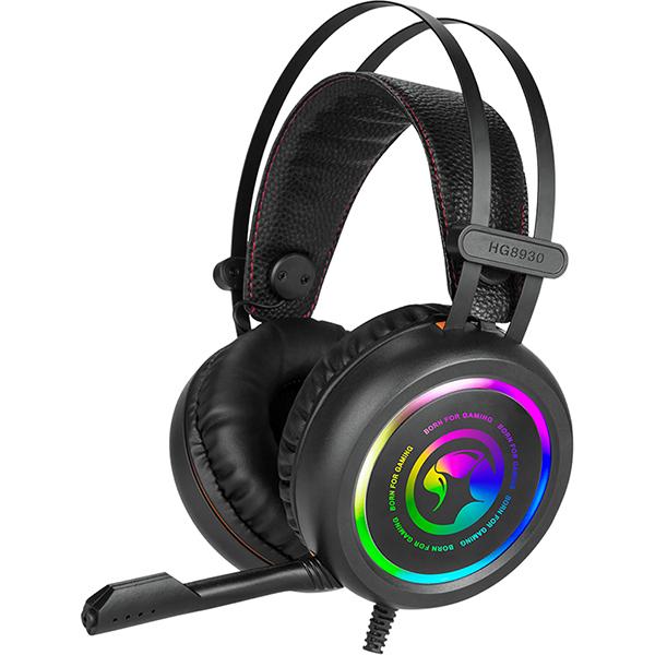 Casti Gaming MARVO HG8930, stereo, 3.5 mm, USB, negru