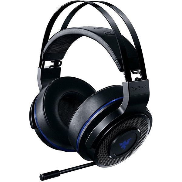 Casti Gaming Wireless RAZER Thresher PS4, stereo, multiplatforma, USB, 3.5mm, negru-albastru