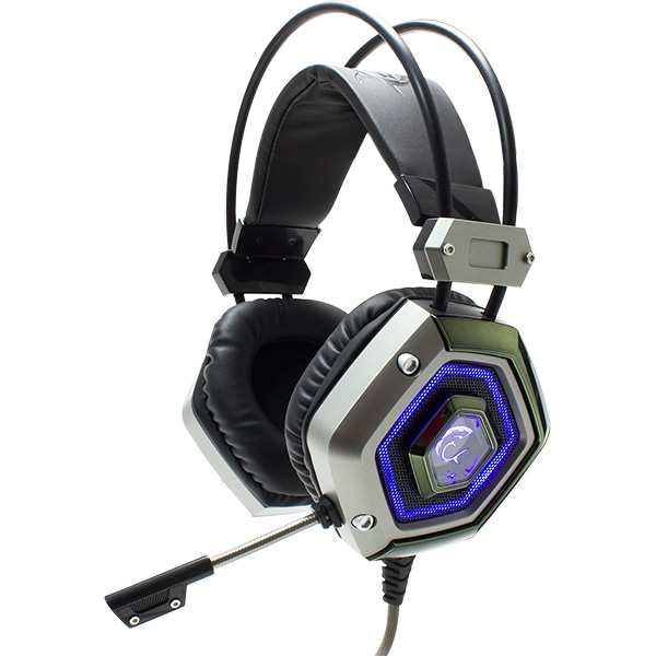 Casti Gaming WHITE SHARK Lion GH-1841, stereo, USB, argintiu