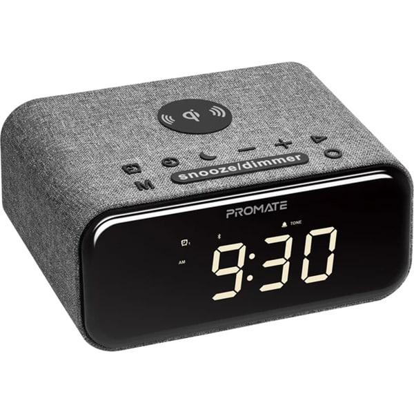 Radio cu ceas PROMATE Cayam, Bluetooth, AM/FM, Incarcare Wireless, negru