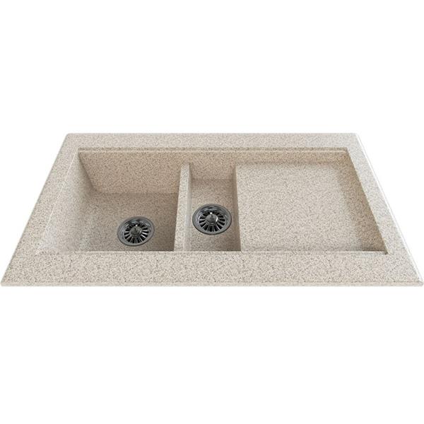 Chiuveta bucatarie GORENJE KVE 96.13, 1 1/2 cuve, picurator reversibil, compozit, bej