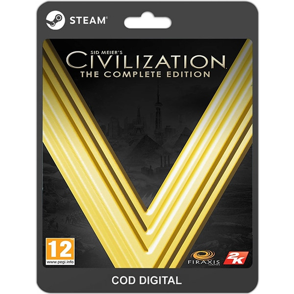 Sid Meier's Civilization V Complete Edition PC (licenta electronica Steam)