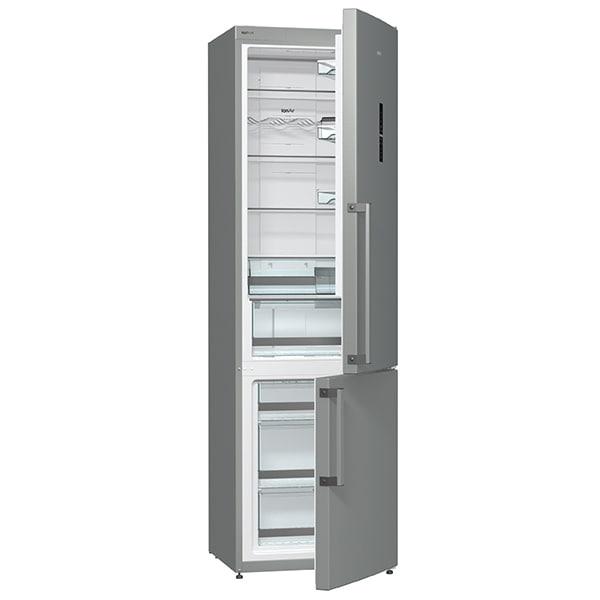 Combina frigorifica GORENJE NRK6202TX, No Frost Plus, 339 l, H 200 cm, Clasa A++, inox