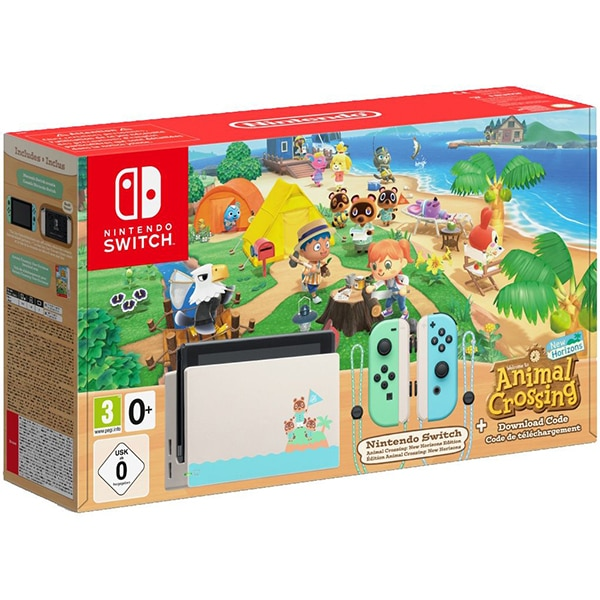 Consola NINTENDO Switch (Joy-Con Pastel Green/Blue) Animal Crossing: New Horizons (cod download)