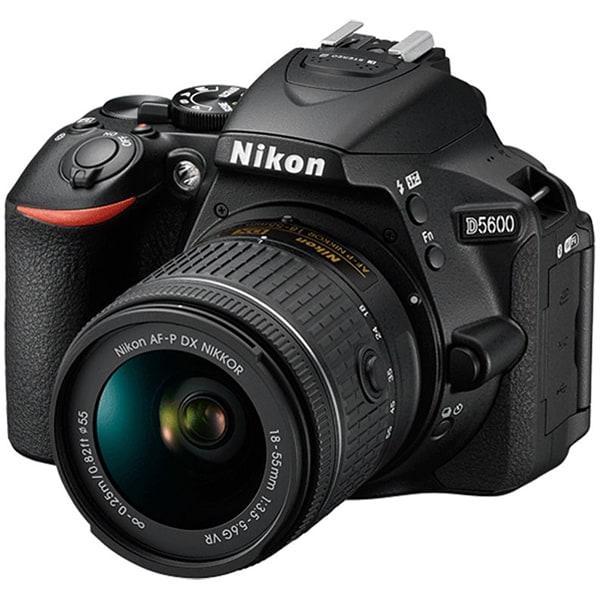 Aparat foto DSLR NIKON D5600, 24.2 MP,  Wi-Fi, negru + Obiectiv AF-P 18-55mm VR