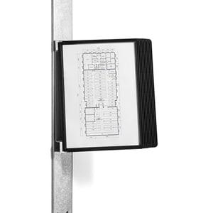 Sistem de prezentare pentru perete DURABLE Magnetic Wall, 10 display-uri, negru