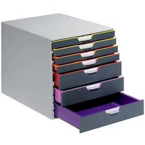 Suport documente DURABLE Varicolor, 7 sertare, plastic, gri
