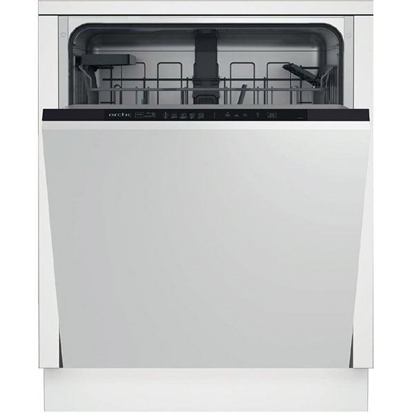 Masina de spalat vase incorporabila ARCTIC DBI542, 14 seturi, 5 programe, Clasa E, negru