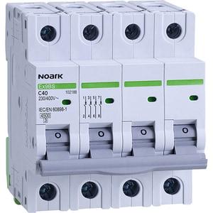 Siguranta automata modulara NOARK 102188, 3P + N, 40A, curba C