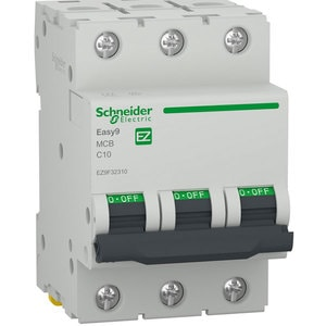 Siguranta automata modulara SCHNEIDER EZ9F32310, 3P, 10A, curba C