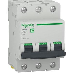 Siguranta automata modulara SCHNEIDER EZ9F32325, 3P, 25A, curba C