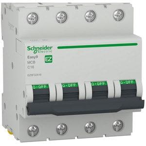 Siguranta automata modulara SCHNEIDER EZ9F32416, 4P, 16A, curba C