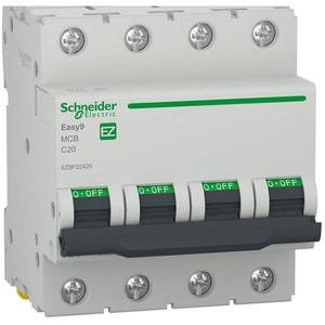 Siguranta automata modulara SCHNEIDER EZ9F32420, 4P, 20A, curba C