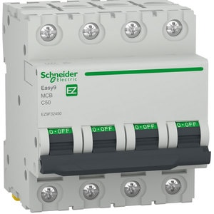 Siguranta automata modulara SCHNEIDER EZ9F32450, 4P, 50A, curba C