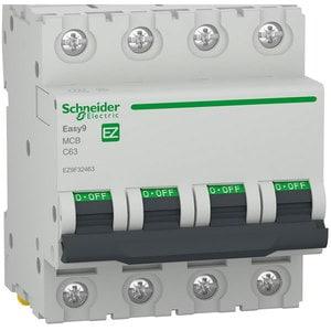 Siguranta automata modulara SCHNEIDER EZ9F32463, 4P, 63A, curba C