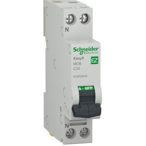 Siguranta automata modulara SCHNEIDER EZ9P32632, 1P + ND, 32A, curba C