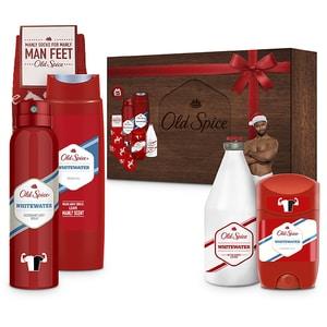 Set cadou OLD SPICE Whitewater: Deodorant spray antiperspirant, 150ml + Deodorant stick, 50ml + Gel de dus, 250ml + After Shave, 100ml + Ciorapi