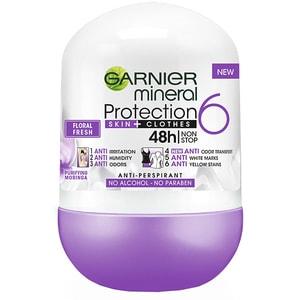 Deodorant roll-on GARNIER Mineral Protection 6 Floral Fresh, 50ml