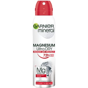 Deodorant antiperspirant spray GARNIER Mineral Magnesium Ultra Dry, 150ml