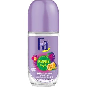 Deodorant roll-on antiperspirant FA Ipanema Nights, pentru femei, 50ml