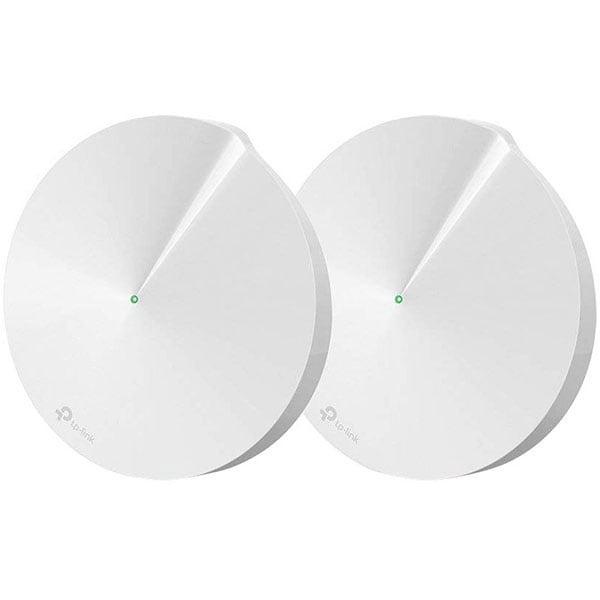 Sistem Wireless Mesh Gigabit TP-LINK Deco M5 AC1300, Dual Band 400 + 867 Mbps, 2 Buc, alb