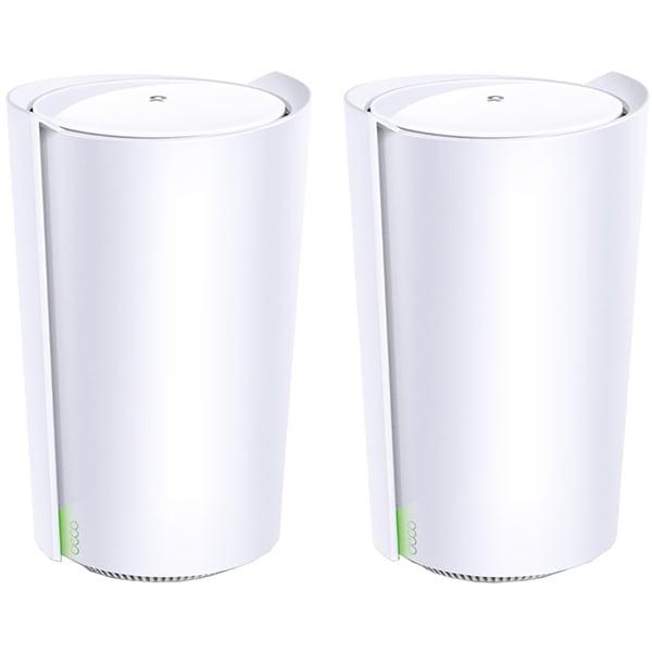 Sistem Wireless Mesh TP-LINK Deco X90 AX6600, Tri-Band 574 + 1201 + 4804 Mbps, alb