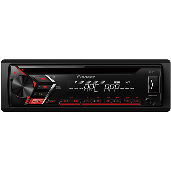CD player auto PIONEER DEH-S100UB, 4x50W, USB, iluminare rosie