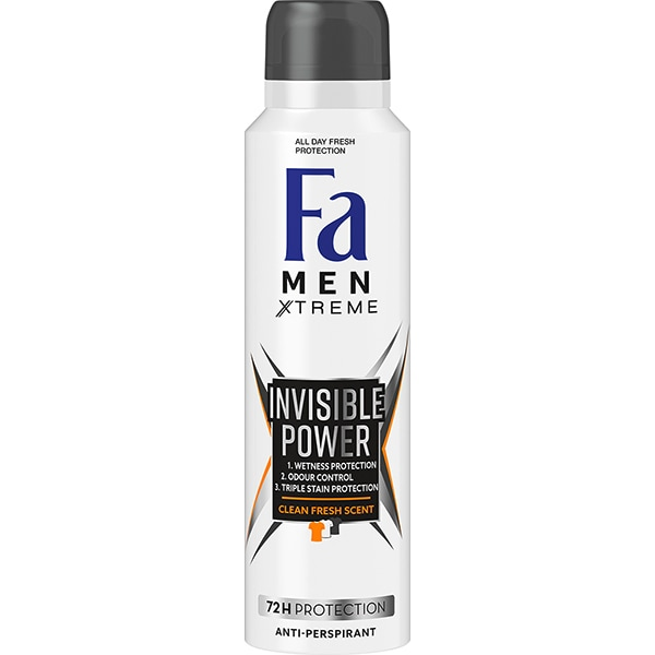 Deodorant spray antiperspirant FA Men Xtreme Invisible Power, 150ml