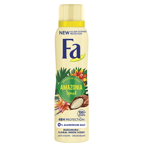 Deodorant spray antiperspirant FA Amazonia Spirit, pentru femei, 150ml