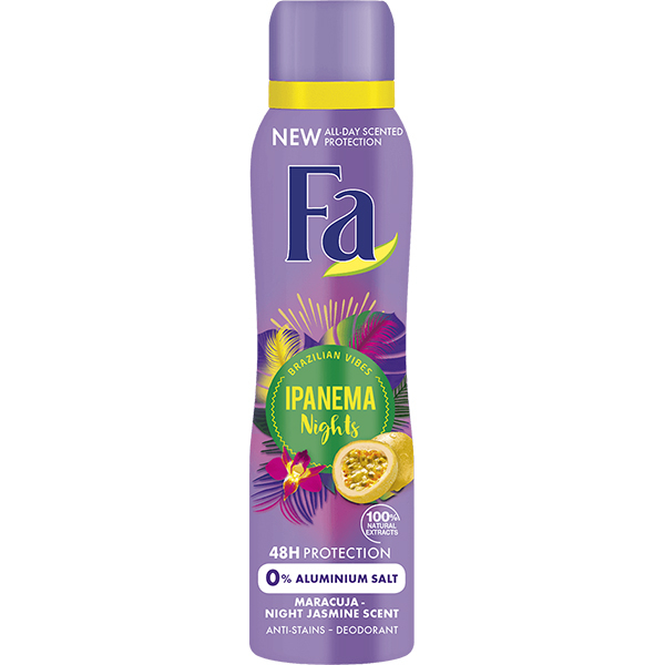Deodorant spray antiperspirant FA Ipanema Nights, pentru femei, 150ml
