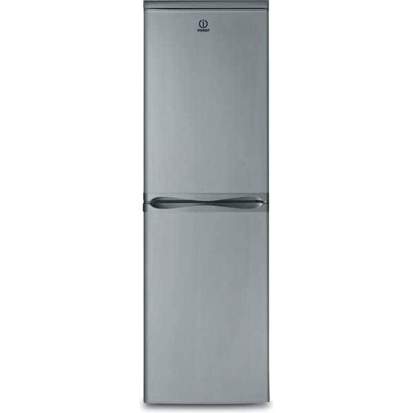 Combina frigorifica INDESIT CAA 55 NX, Low Frost, 235 l, H 174 cm, Clasa F, inox