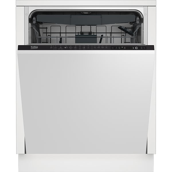 Masina de spalat vase incorporabila BEKO DIN28425, 14 seturi, 8 programe, 60 cm, Clasa E, negru