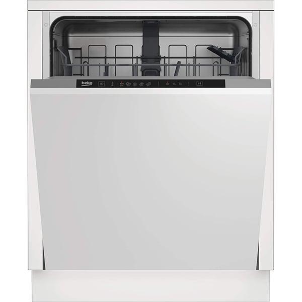 Masina de spalat vase incorporabila BEKO DIN35321, 13 seturi, 5 programe, Clasa E, negru-gri
