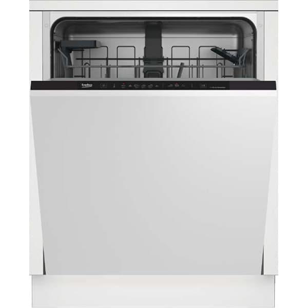 Masina de spalat vase incorporabila BEKO DIN36420, 14 seturi, 6 programe, Clasa E, negru