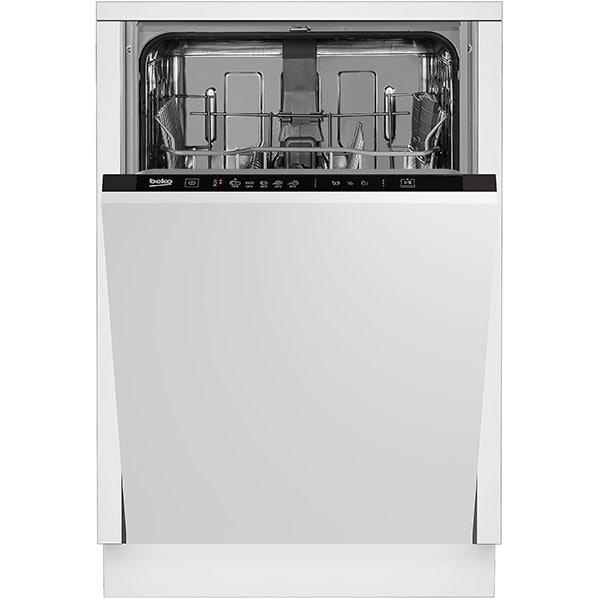 Masina de spalat vase incorporabila BEKO DIS35020, 10 seturi, 5 programe, 45 cm, Clasa E, negru