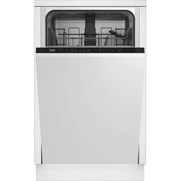 Masina de spalat vase incorporabila BEKO DIS35023, 10 seturi, 5 programe, 45 cm, Clasa E, negru