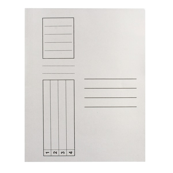 Dosar plic RTC, A4, carton, 25 bucati, alb