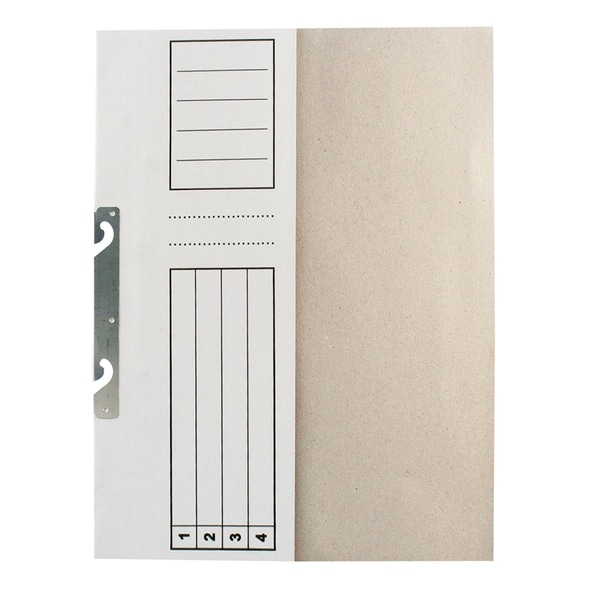 Dosar de incopciat 1/2 RTC, A4, carton, 25 bucati, alb